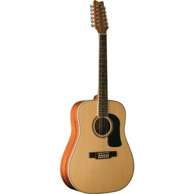 * View CAPETOWN * Washburn WD10S12 12-String Dreadnought Cutaway Acoustic