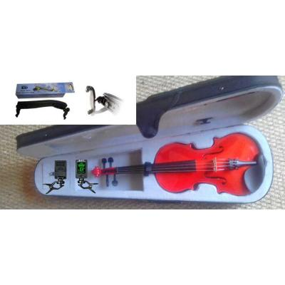 Courante violin outfit- RED SPARKLE LAQUER 3/4 size :AGES 9-11 with Shoulder Rest*View CAPETOWN