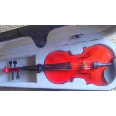 Courante violin outfit- RED SPARKLE LAQUER 1/4 size :AGES 4-7  including setup + 4 fine tuners *View CAPETOWN